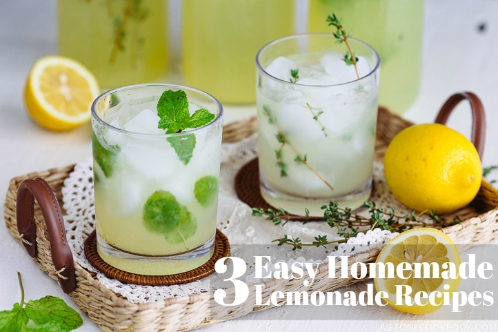 3 Easy Homemade Lemonade Recipes Just One Cookbook