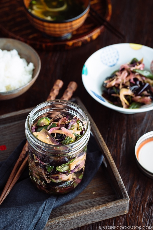 Shibazuke Pickles 柴漬け | Easy Japanese Recipes at JustOneCookbook.com
