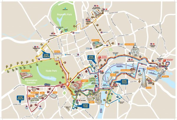 Hop on Hop Off Bus London Route Map
