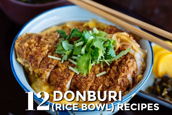 12 Donburi Japanese Rice Bowls Recipes Just One Cookbook