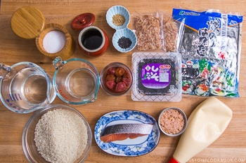 Onigiri Ingredients