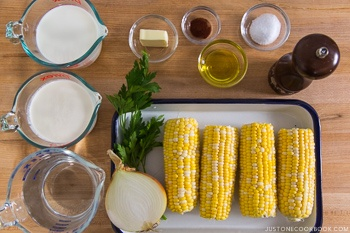 Corn Potage (Japanese Corn Soup) Ingredients