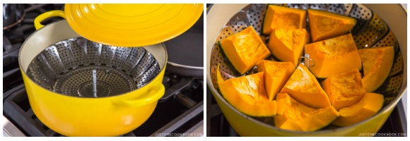 Steam kabocha.