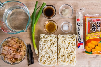 Kitsune Udon Ingredients
