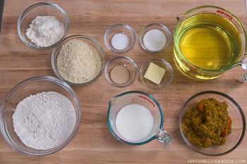 Curry Bread Ingredients