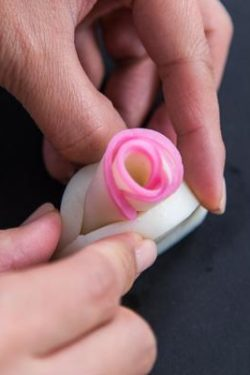 Decorative Kamaboko Cutting - Rose 7