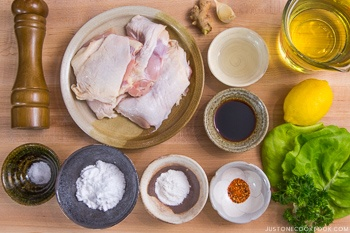 Gluten Free Karaage Ingredients