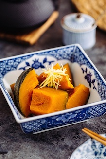 Simmered kabocha or Kabocha no Nimono recipe