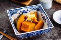 Simmered Kabocha Squash (Japanese Pumpkin) かぼちゃの煮物