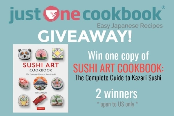 Sushi Art Cookbook Giveaway on Just One Cookbook