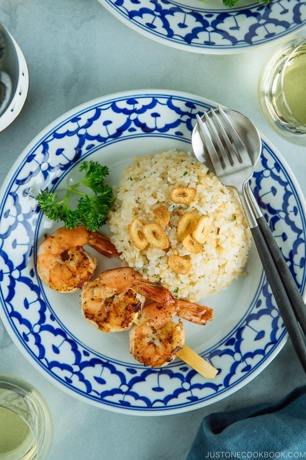 Japanese Garlic Fried Rice ガーリックライス | Easy Japanese Recipes at JustOneCookbook.com