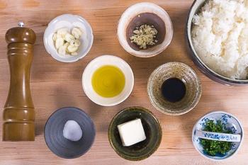Garlic Fried Rice Ingredients