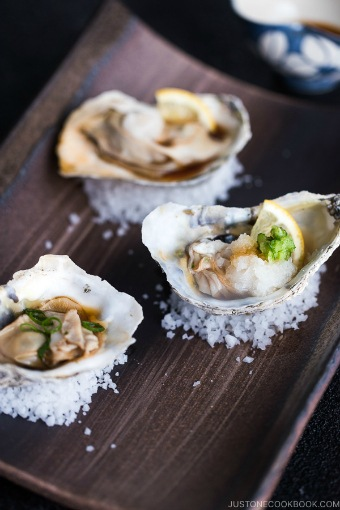 Grilled Oysters with Ponzu Sauce