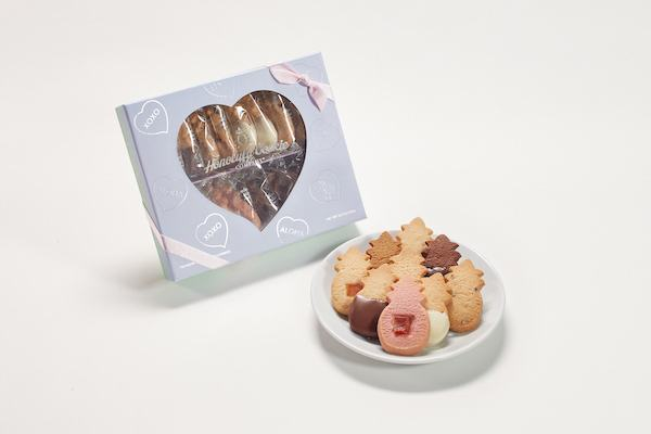 Heart Window Box Cookies from Honolulu Cookies Company giveaway on JustOneCookbook.com