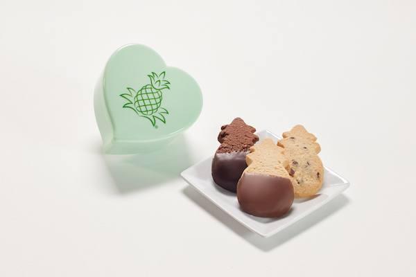Pineapple heart box cookies honolulu cookies company giveaway on JustOneCookbook.com