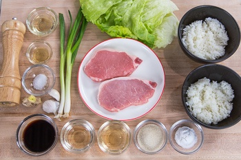 Teriyaki Pork Donburi Ingredients