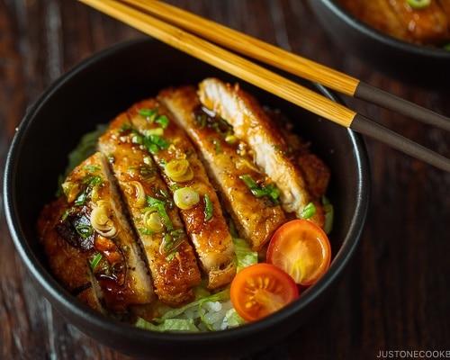 japanese teriyaki pork chop recipes Teriyaki Pork Donburi