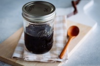 Teriyaki Sauce in a mason jar.