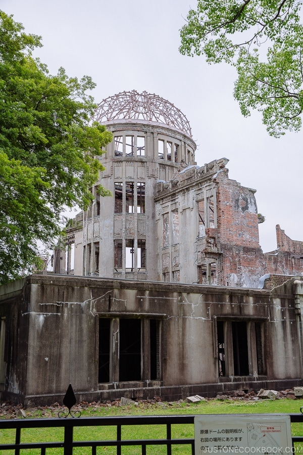 view of atomic bomb dome in Hiroshima | JustOneCookbook.com