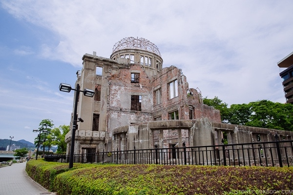 view of Atomic Bomb Dome from the river side | JustOneCookbook.com