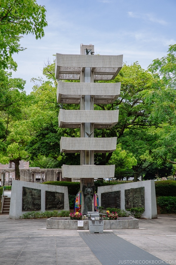 memorial tower to the mobilized student in Hiroshima | JustOneCookbook.com