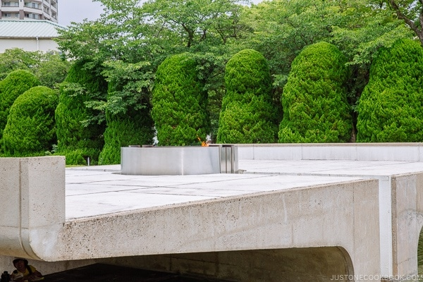 view of peace flame at Hiroshima Peace Memorial Park | JustOneCookbook.com