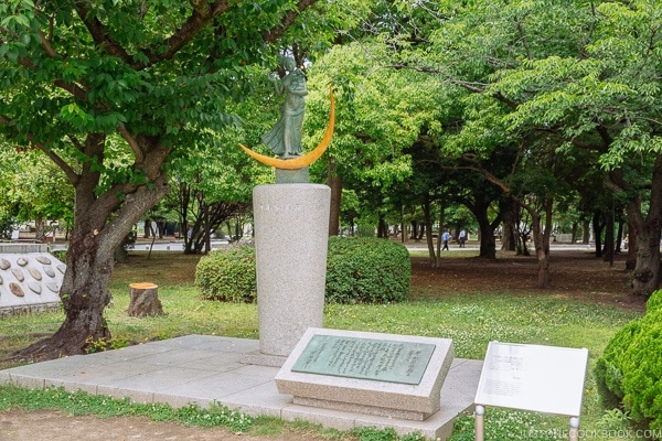 statue of a prayer for peace at Hiroshima Peace Memorial Park | JustOneCookbook.com