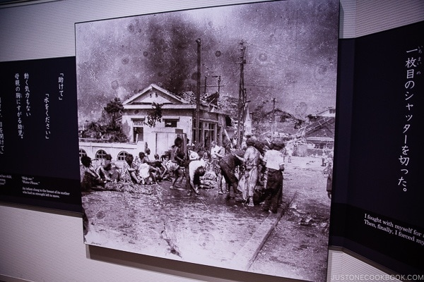 black and white photos of Hiroshima citizens after the atomic bomb | JustOneCookbook.com