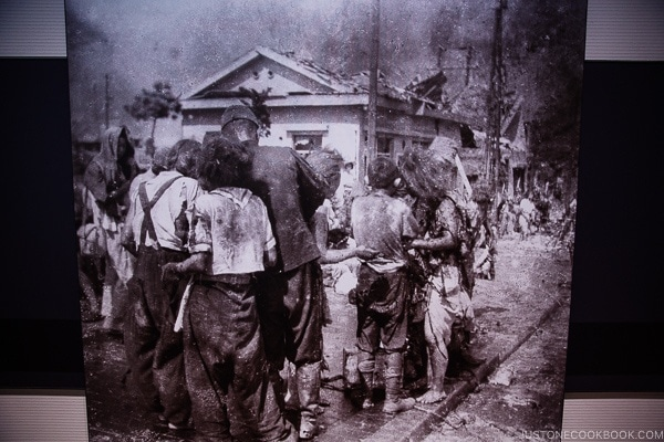 black and white photos of Hiroshima citizens after atomic bomb | JustOneCookbook.com