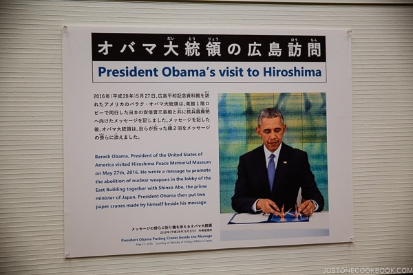 Barak Obama signing letter during his visit to Hiroshima | JustOneCookbook.com