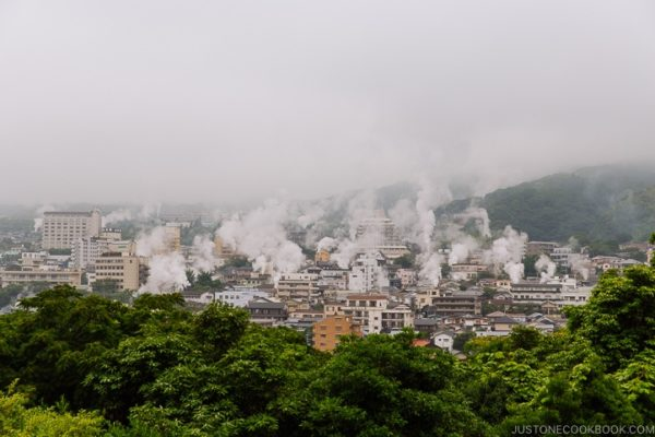 Beppu steam vents | justonecookbook.com