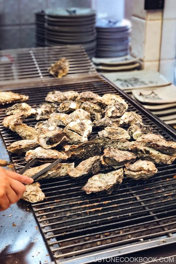 Grilled Oysters Miyajima