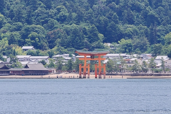 Itsukushima Shrine Torii Gate low tide | JustOneCookbook.com