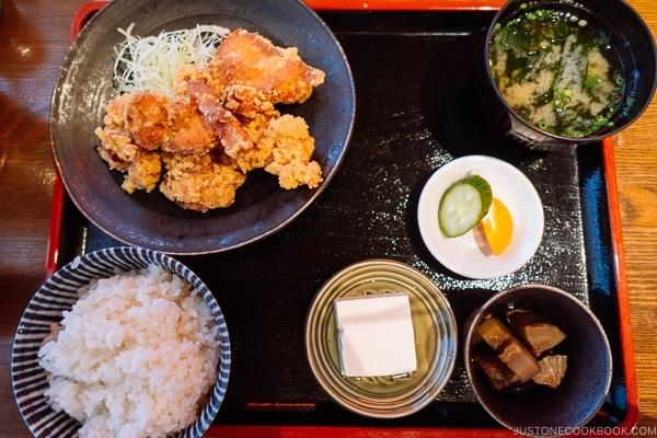 Karaage Teishoku (Japanese Meal set) in #Japan