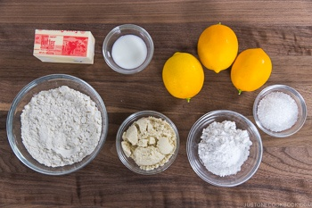 Meyer Lemon Cookies Ingredients
