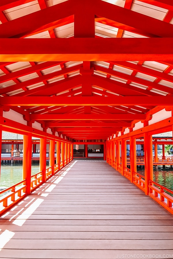 Itsukushima Shrine hallway at Miyajima   JustOneCookbook.com