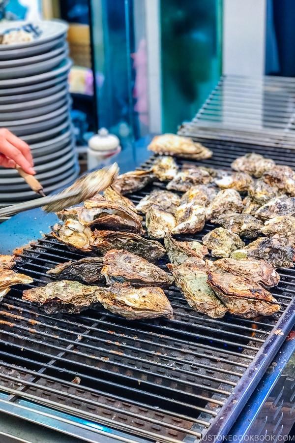 grill oysters at Miyajima-cho | JustOneCookbook.com