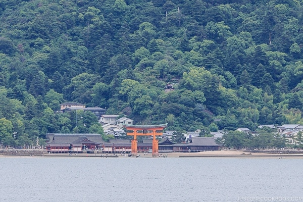 Itsukushima Shrine Torii Gate during low tide | JustOneCookbook.com
