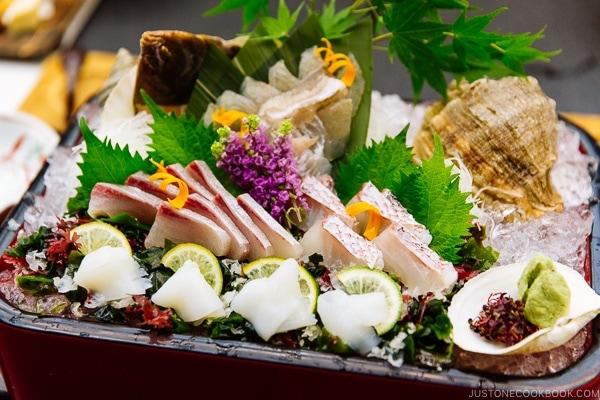 sashimi platter at Miyajima Grand Hotel Arimoto | JustOneCookbook.com