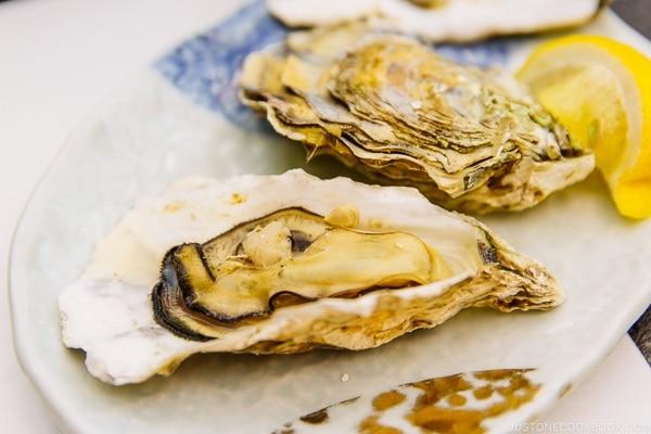 grill oyster Miyajima Grand Hotel Arimoto | JustOneCookbook.com
