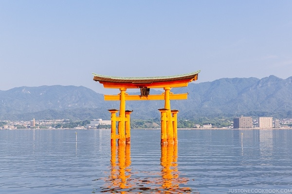 Torii gate at Itsukushima Shrine | JustOneCookbook.com