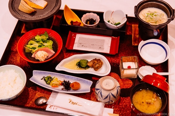 Japanese breakfast at Miyajima Grand Hotel Arimoto | JustOneCookbook.com