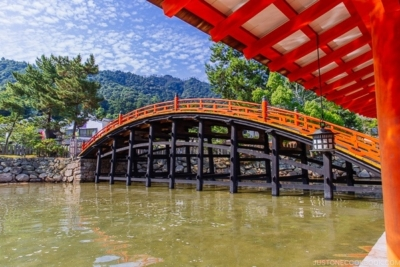 the bridge at Itsukushima Shrine Miyajima   JustOneCookbook.com