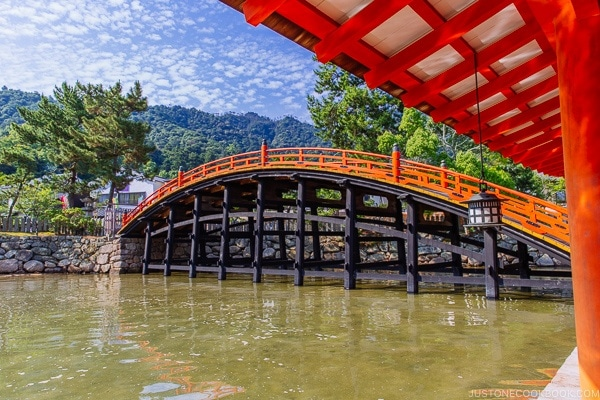 the bridge at Itsukushima Shrine Miyajima | JustOneCookbook.com