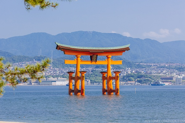 Torii gate at Itsukushima Shrine | JustOneCookbook.com