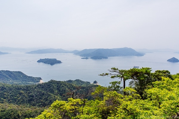 view of Hiroshima Bay from Mt. Misen | JustOneCookbook.com