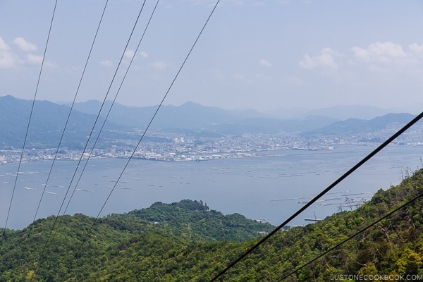 View of Hiroshima from Miyajima Ropeway | JustOneCookbook.com