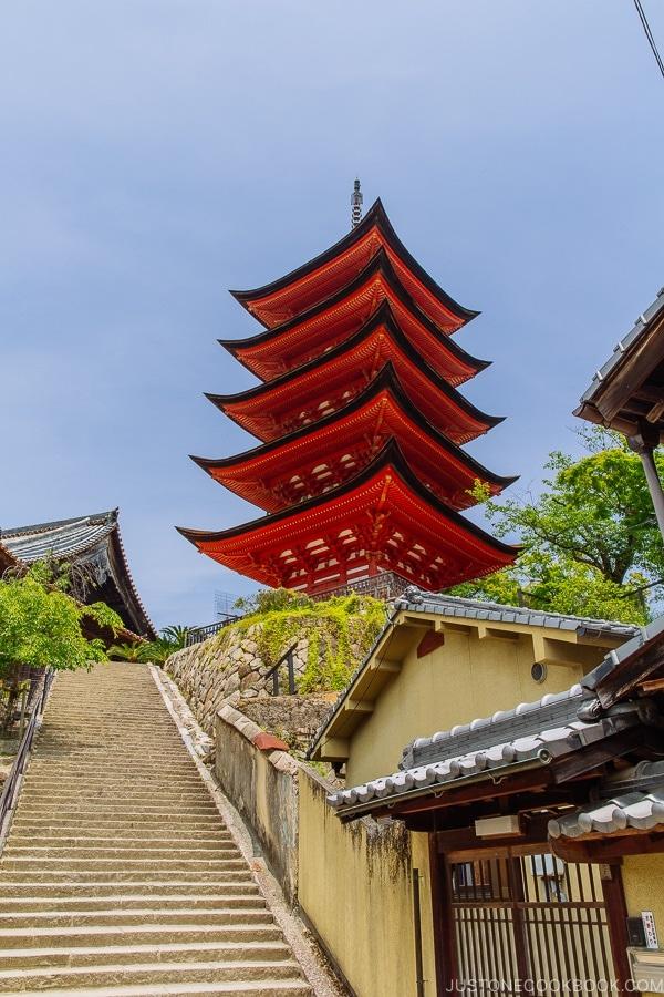 Toyokuni Shrine 5 story pagoda | JustOneCookbook.com