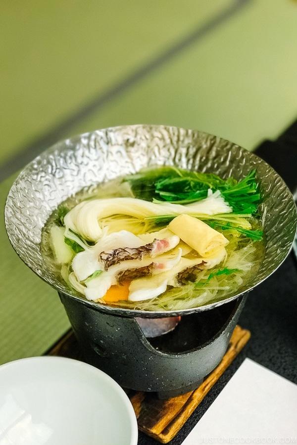 sea bream hotpot Miyajima Grand Hotel Arimoto | JustOneCookbook.com