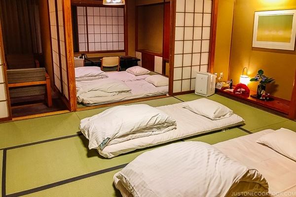 futon bedding Miyajima Grand Hotel Arimoto | JustOneCookbook.com